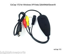 New Version!! EzCAP 172 USB 2.0 Video Capture Grabber for Windows XP/Vista/7/8
