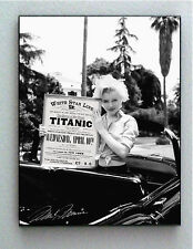 Framed Marilyn Monroe holding Titanic Travel Poster faux autograph Lim. Edition
