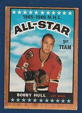 BOBBY HULL ALL STAR 66-67 TOPPS 1966-67  NO 125 EX  0955