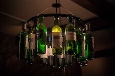 Wine Bottle Chandelier NO WIRING Wine Rack Chain Light Lighting Wine Decor