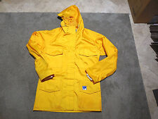 VINTAGE Helly Hansen Hooded Sailing Jacket Adult Extra Small XS Yellow Rain Coat