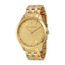 Armani Exchange Gold Dial Gold-tone Stainless Steel Mens Watch AX2167