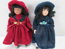 Lot of 2 Celebrate the Season Dolls Sears Roebuck and Co Collectables Blue/Red T
