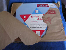 "A W Binder/Jewish Holidays in Song/3 12"" 78s/RCA Victor MO-1239/OLD NEW STOCK*"