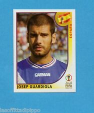 KOREA/JAPAN 2002-PANINI-Figurina n.106- GUARDIOLA -SPAGNA-NEW BLUE BACK