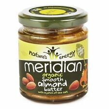 Meridian Organic Smooth Almond Butter 170g With A Pinch of Salt