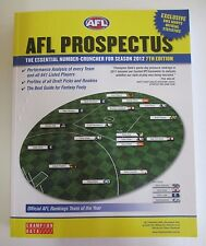 AFL Prospectus: The Essential Number-Cruncher for Season 2012