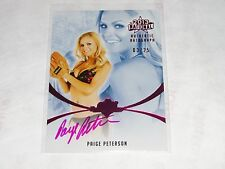 2013 Benchwarmer PAIGE PETERSON National #57 Pink Auto/25 The Hot Chick SCRUBS