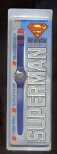 Superman Vintage swatch style watch,Hard to find Licensed Multiple S shield Face