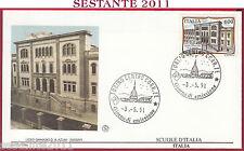 ITALIA FDC FILAGRANO 1991 LICEO GINNASIO AZUNI SASSARI ANNULLO TORINO T960