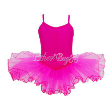 Girls Gymnastics Ballet Dress Kids Leotard Tutu Skirt Party Dance Fancy Costume