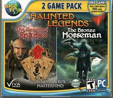 HAUNTED LEGENDS THE BRONZE HORSEMAN + QUEEN OF SPADES Hidden Object PC Game NEW