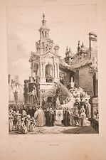 Procession de la gargouille, litho BOULANGER, 1840,Saint Romain de Rouen