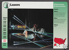LASERS Researcher Photo Helium Neon Laser 1996 GROLIER STORY OF AMERICA CARD