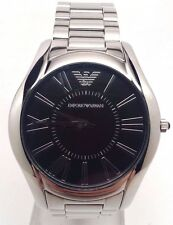 Emporio Armani Men's AR2022 Classic Round Black Dial Stainless Steel Watch