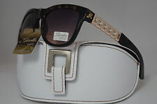 DG SUNGLASSES CELEBRITY BROWN GISELLE LUNETTES COLLECTION +FREE WHITE CASE *32