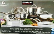 Kirkland Signature™ 10-piece Tri-Ply Clad Stainless Steel Induction Cookware Set