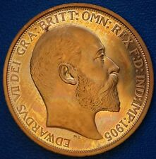 Scotland 1905  Retro Pattern Proof Crown Golden Alloy Coin Edward VII