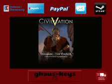Civilization and Scenario Pack Denmark - The Vikings Steam Key Pc Game Code