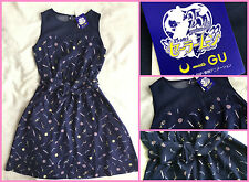 ✨ Sailor Moon 25th Annivaersary meets GU Cute RARE Navy One Piece Dress Japan S