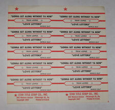 Trini Lopez Full Sheet of 10 Jukebox Title Strips Gonna Get Along Without Ya Now