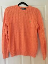 Polo Ralph Lauren Orange Sherbet Cable Knit Sweater Women's M
