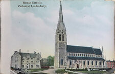 3 x St Eugenes Cathedral Brooke Park Londonderry Ireland Postcards Derry PK 13
