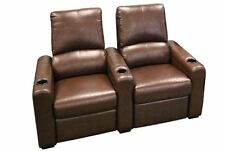 Seatcraft Eros Home Theater Seating 2 Seats Brown Chairs Manual Recline
