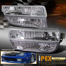 (FULL KIT) Honda Prelude 1997-2001 JDM Clear Fog Lights Lamp+Bumper Signal Lamp