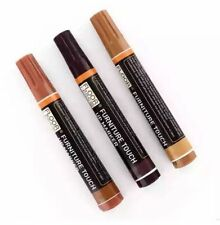 FURNITURE & WOOD SCRATCH PERMANENT REPAIR MARKER PENS LIGHT DARK MEDIUM BROWN