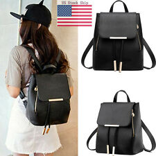 Lady Leather Backpack Bookbag Travel Shoulder Handbag Schoolbag Mochila Bag USPS