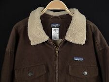 Mens PATAGONIA Fleece-Lined Sherpa Style Corduroy Jacket Brown Size XXL 2XL