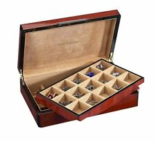 Venlo Thirty 30 Holder Cufflink Jewelry Case Triple Burlwood Wood New cl-30-tb
