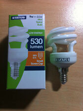 9w 46w SES E14 Small Screw In Energy Saver Spiral CFL Bulb Lamp Warm White x 4