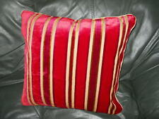 VERVAIN Throw pillow cut velvet fabric red gold stripes colors Custom new ONE
