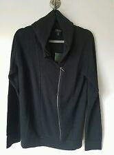 'S MaxMara Women's Silk and Cashmere Zip Cardigan Hoodie Sweater L NEW