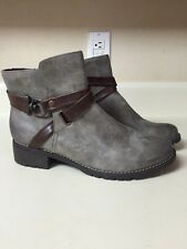 New Eurosoft Gray & Brown Tiana Boots 8.5