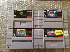 Brain Lord + Drakkhen + Wizardry V + Lagoon (Super Nintendo, SNES LOT) Carts