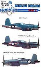 EagleCals Decals 1/32 VOUGHT F4U-1 BIRDCAGE CORSAIR Fighters Part 2