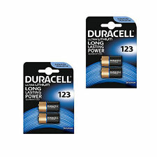 4 Duracell CR123A 3V Ultra Lithium Photo Digital Camera Battery DLCR123 Torch