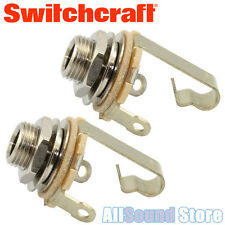"NEW LOT OF 2 Switchcraft Mono T/S 1/4"" Input Output Guitar Bass Jack #11 2 PACK"