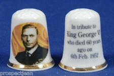 Special Offer King George VI Tribute, Died 60 Years Ago 1952-2012 Thimble B/78