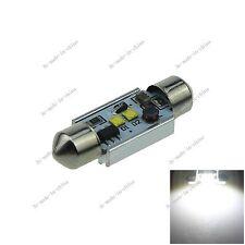 1X White 36MM 2 CREE LED Festoon Dome Light Bulb Non-polar 6461 12-24V I134