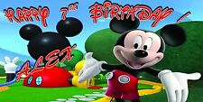 "Mickey Mouse Club House Birthday Banner Personalized (28""x52"")inches"
