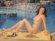 1950s Pinup Nude by the pool 8 x 10 Photograph