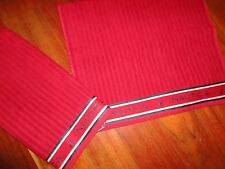NAUTICA RED & BLUE SIGNATURE (PAIR) HAND TOWELS 100% COTTON 16 X 26 BOYS