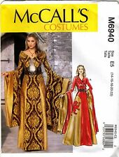 PATTERN McCall's M6940 Thrones Cersei Gown Dress Medieval Cosplay 14-22