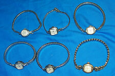 6 Elgin Womens Vintage Watches 19 Starlite17 Jewel Wrist Watch Silver Gold Color