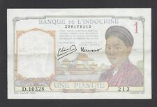 FRENCH INDOCHINA  -  1 PIASTRE  1946-49  @   @
