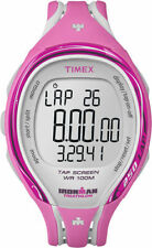 "Timex T5K591, ""Ironman Triathlon"" Tapscreen Pink Resin Watch, Alarm,Chronograph"